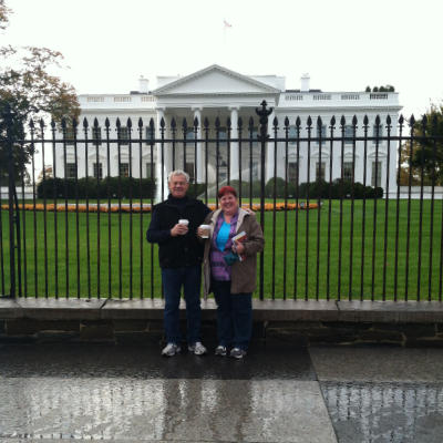 John (Dad) and Shelby at the White House
